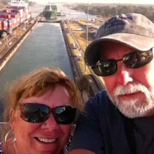 Here's our Panama Canal selfie!